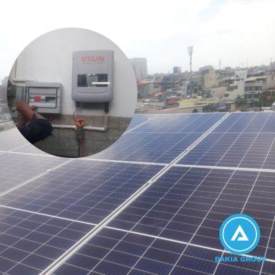 Dự án Lắp điện năng lượng mặt trời gia đình 3.2KW tại Bình Thạnh TPHCM
