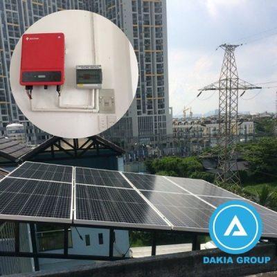 Điện năng lượng mặt trời hòa lưới 5.6KW tại Tân Phú TPHCM
