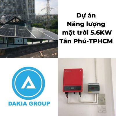 Dự án điện năng lượng mặt trời hòa lưới 5.6KW tại Tân Phú TPHCM