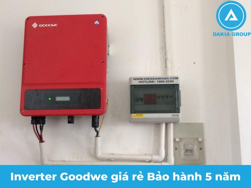 Inverter cho điện năng lượng mặt trời hòa lưới 5.6KW tại Tân Phú TPHCM