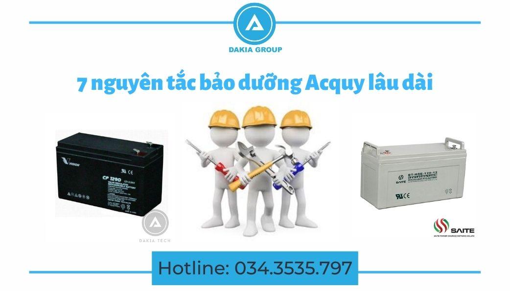 7 nguyên tắc bảo dưỡng Acquy lâu dài - Dakia Group