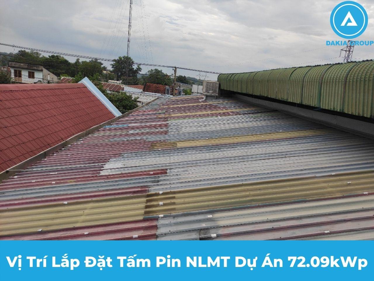Điện Năng Lượng Mặt Trời tại Trảng Bom Đồng Nai - Vị trí lắp tấm pin