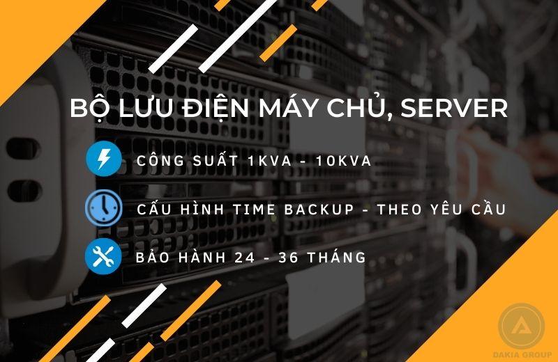 Dakia Group cung cấp giải pháp Bộ Lưu Điện cho Server, Máy chủ